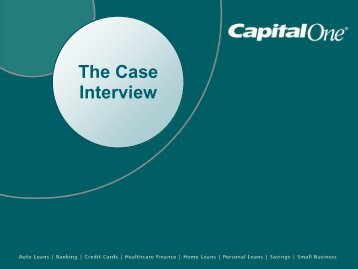 Capital One - The Case Interview - Careers Service