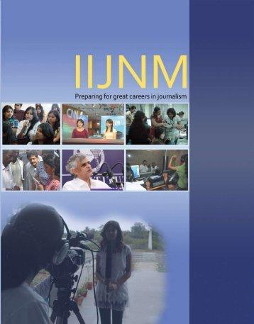 IIJNM Prospectus - Indian Institute of Journalism & New Media