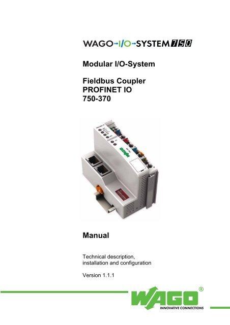 Modular I/O-System Fieldbus Coupler PROFINET IO 750     - Wago
