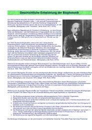 Geschichtliche Entwicklung der Biophotonik