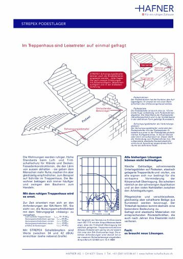 Information Strepex Podestlager - HAFNER AG