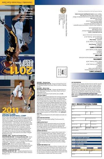 Download 2011 Summer Camp Brochure - University of Wisconsin ...