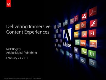 Delivering Immersive Content Experiences - cdn.oreilly.com