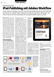 iPad-Publishing mit Adobes Workflow - Publisher