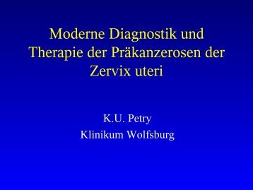 Moderne Diagnostik und Therapie der dysplastischen ...