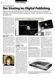 Der Einstieg ins Digital Publishing - Publisher