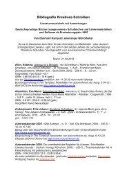 Bibliografie Kreatives Schreiben - Eberhard Kamprad, Leipzig