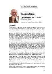 NLP Master Modelling Georg Sedlmaier: - NLP-TrainerAkademie
