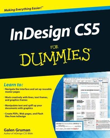InDesign CS5 For Dummies - noebbe.dk