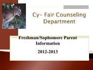 Freshman/Sophomore Parent Night Meeting Presentation
