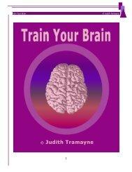 Train Your Brain © Judith Tramayne - Campbell M Gold