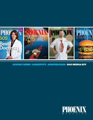 2013 media kit - PHOENIX Magazine