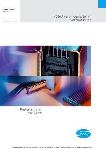 STOCKO Steckverbinder Raster 2,5mm - Baum Electronic