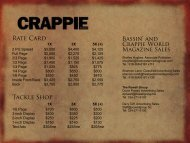 Rate Card Tackle Shop - Crappie World