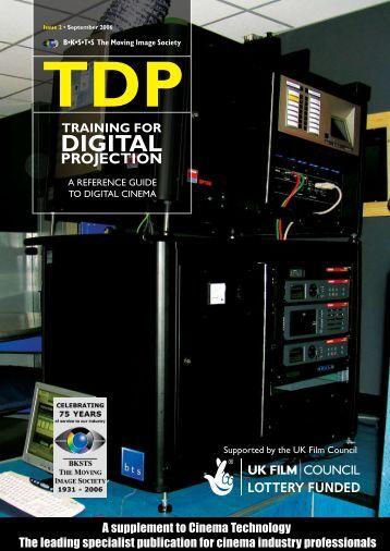 tdp training for digital projection - Cinema Technology Magazine