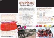 Flyer als pdf downloaden - Nesselwang