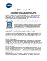 InnoTab Now Available At Retail - VTech