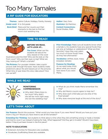 Too Many Tamales - A Guide for Educators