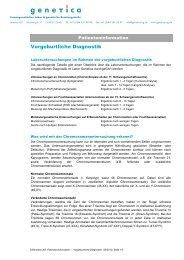 Vorgeburtliche Untersuchungen - Genetica AG