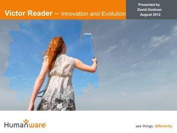 Victor Reader – Innovation and Evolution - IFLA