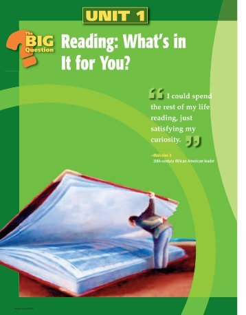 Unit 1: Reading: What's in It for You? - Ocala-CHC