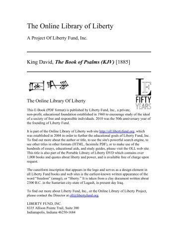 Psalms 18 - II/pdf - Rob Seal - Lovest Thou Me