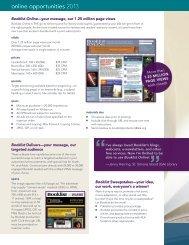 online opportunities 2013 - Booklist