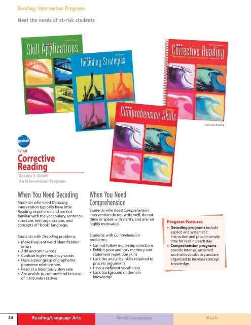 Corrective Reading Comprehension - McGraw-Hill Books
