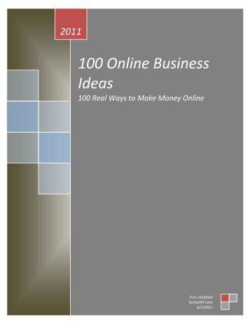 100 Online Business Ideas - TechieDIY.com