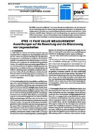 IFRS 13 FAIR VALUE MEASUREMENT - PwC