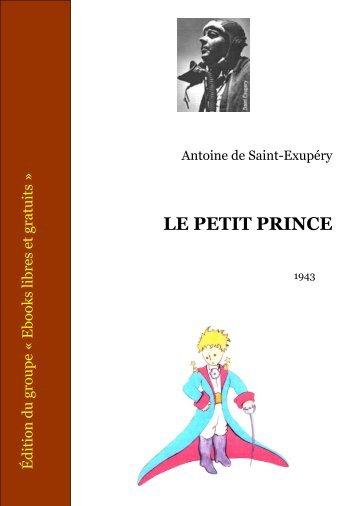 Le Petit Prince - Ebooks libres et gratuits