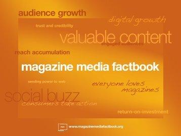 Magazine Media Factbook 2011/2012 - Magazines.nl