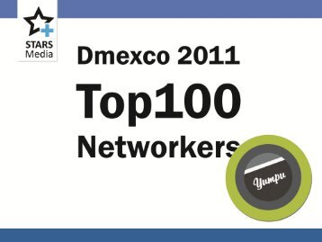 Dmexco 2011, Top 100 Networker