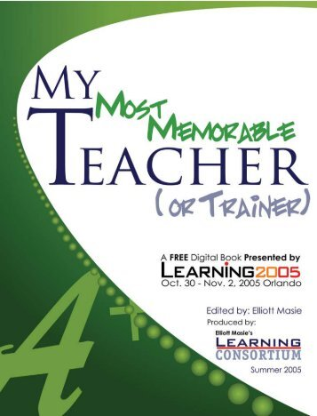 My Most Memorable Teacher - Pima Community College
