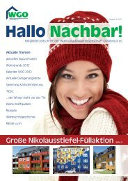 Hallo Nachbar 3/2011 - Wohnungsbaugenossenschaft Osnabrück eG
