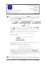 Løsningsforslag - Institutt for matematiske fag