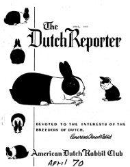 April 1970 Issue - American Dutch Rabbit Club