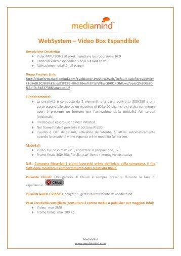 WebSystem – Video Box Espandibile - System24