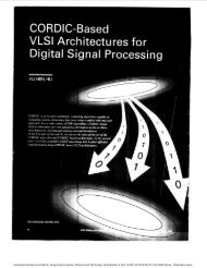 CORDIC-based VLSI architectures for digital signal processing ...