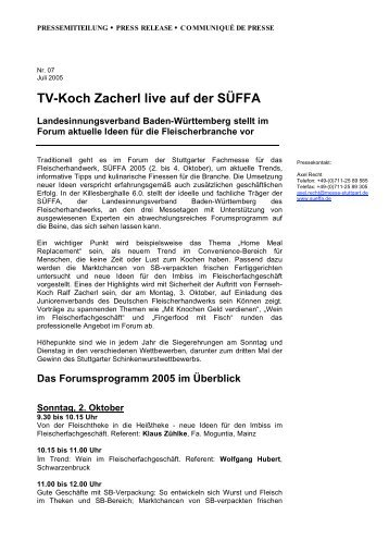 Suffa magazine for Koch zacherl