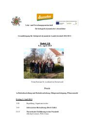 Modul VII 5./6. April 2013 Praxis - Demeter
