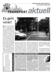Es geht voran! - ADFC Frankfurt