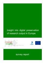 PARSE.Insight Survey Report