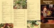 """Speisekarte """"To Go"""" - Vier Jahreszeiten in Schessinghausen"""