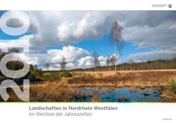 Landschaften in Nordrhein-Westfalen im Wechsel der Jahreszeiten