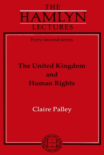 The United Kingdom and Human Rights - College of Social ...