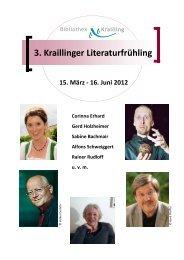 3. Kraillinger Literaturfrühling