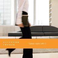 """Broschüre """"Career starts with C"""" - Clifford Chance"""