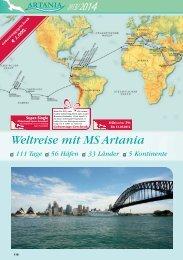 Weltreise mit MS Artania 111 Tage 56 Häfen 33 Länder ... - TravelCMS