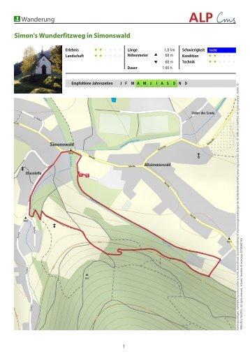 Wanderung Simon's Wunderfitzweg in Simonswald - Zweitälerland